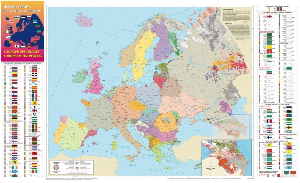 Foto de Mapa de las Lenguas en Europa